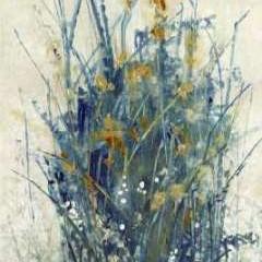 Indigo Floral I Digital Print by O'Toole, Tim,Impressionism