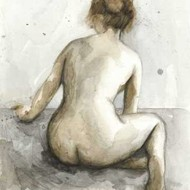 Figure in Watercolor I Digital Print by Meagher, Megan,Impressionism