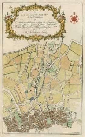 Parishes of London Digital Print by Cole, B.,Decorative