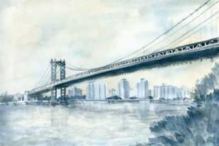 City Bridge II Digital Print by Meagher, Megan,Impressionism