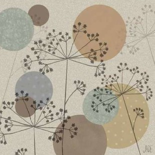 Polka-Dot Wildflowers II Digital Print by Reynolds, Jade,Decorative