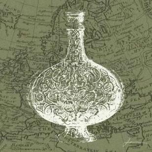 Map Bottles IV Digital Print by Burghardt, James,Decorative