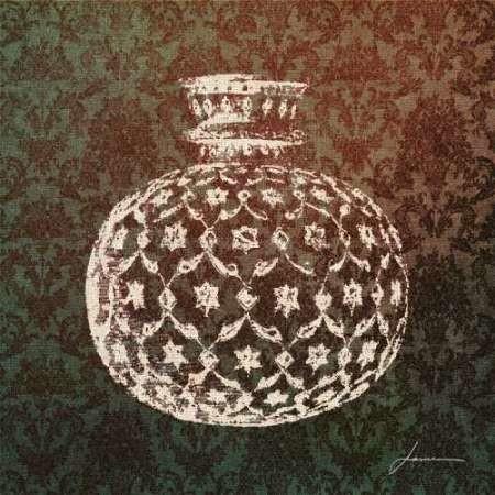 Patterned Bottles I Digital Print by Burghardt, James,Decorative