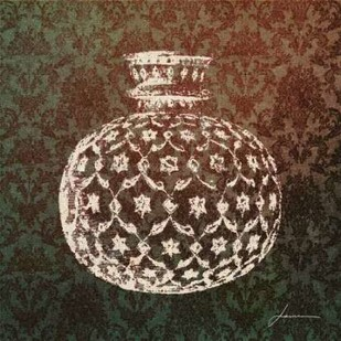 Patterned Bottles I Digital Print by Burghardt, James,Decorative