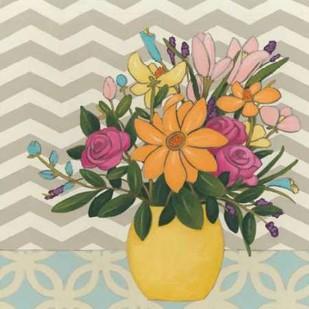 Patterns and Petals I Digital Print by Vess, June Erica,Decorative
