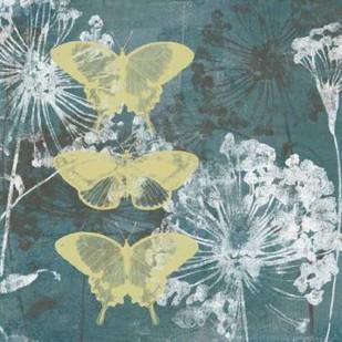 Indigo And Wings I Digital Print by Goldberger, Jennifer,Decorative