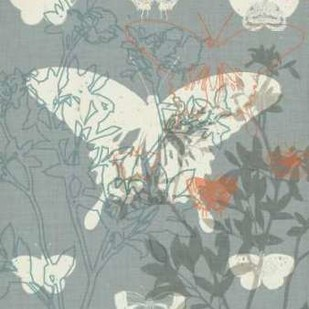 Flowers and Butterflies II Digital Print by Goldberger, Jennifer,Decorative