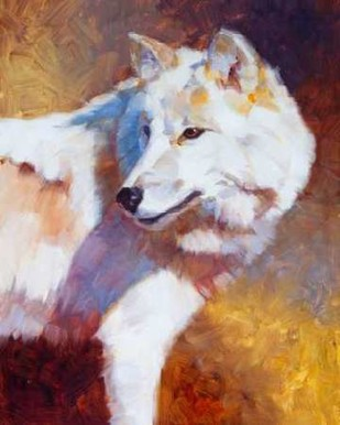 White Wolf Digital Print by Chapman, Julie,Impressionism