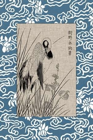 Asian Crane Panel II Digital Print by Vision Studio,Decorative