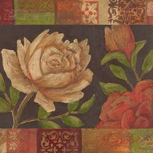 Floral Patchwork I Digital Print by Meagher, Megan,Decorative