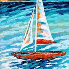Wind In My Sail II Digital Print by Vitaletti, Carolee,Impressionism