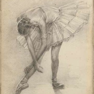 Antique Ballerina Study II Digital Print by Harper, Ethan,Impressionism