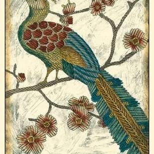 Embroidered Pheasant II Digital Print by Zarris, Chariklia,Decorative