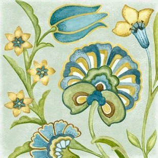 Decorative Golden Bloom II Digital Print by Wright, Sydney,Decorative