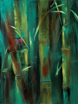 Turquoise Bamboo I Digital Print by Wilkins, Suzanne,Decorative