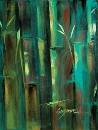 Turquoise Bamboo II Digital Print by Wilkins, Suzanne,Decorative