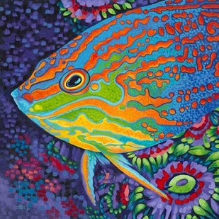 Brilliant Tropical Fish I Digital Print by Vitaletti, Carolee,Decorative
