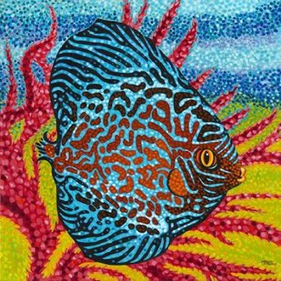Brilliant Tropical Fish II Digital Print by Vitaletti, Carolee,Decorative
