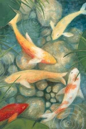 Reflecting Koi II Digital Print by Meagher, Megan,Impressionism
