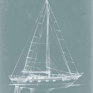 Yacht Sketches II Digital Print by Harper, Ethan,Decorative, Illustration