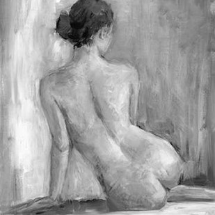 Figure in Black and White I Digital Print by Harper, Ethan,Impressionism