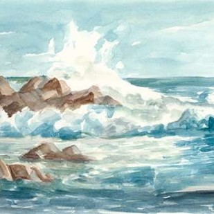Coastal Watercolor I Digital Print by Harper, Ethan,Impressionism