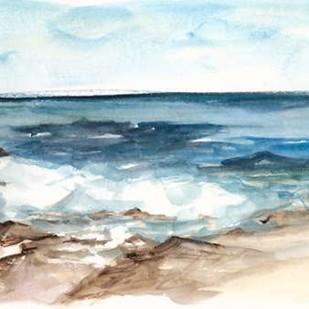 Coastal Watercolor V Digital Print by Harper, Ethan,Impressionism