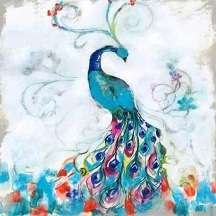 Confetti Peacock I Digital Print by Goldberger, Jennifer,Decorative