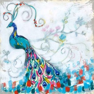 Confetti Peacock II Digital Print by Goldberger, Jennifer,Decorative