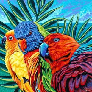 Birds in Paradise I Digital Print by Vitaletti, Carolee,Realism