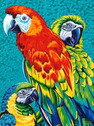 Birds in Paradise III Digital Print by Vitaletti, Carolee,Realism