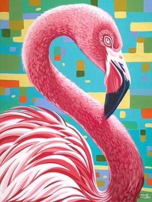 Fabulous Flamingos I Digital Print by Vitaletti, Carolee,Realism