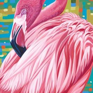 Fabulous Flamingos II Digital Print by Vitaletti, Carolee,Realism