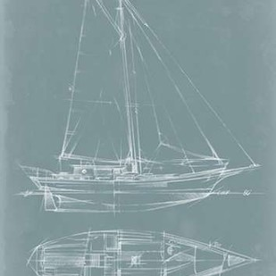 Yacht Sketches III Digital Print by Harper, Ethan,Decorative