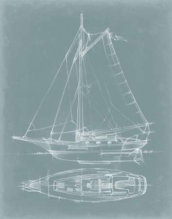 Yacht Sketches IV Digital Print by Harper, Ethan,Decorative