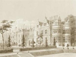 Kirby Castle Garden View Digital Print by Richardson,Decorative