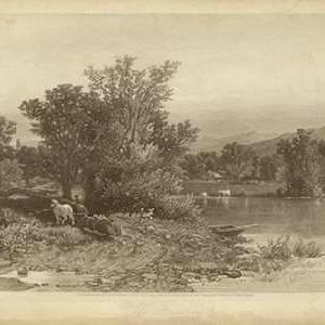 The Housatonic Digital Print by R. Hinshelwood,Impressionism