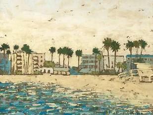 Beach Coast I Digital Print by Meagher, Megan,Impressionism