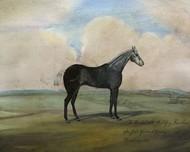 The Kicker- A Steel Grey Racehorse Digital Print by McCavitt, Naomi,Impressionism
