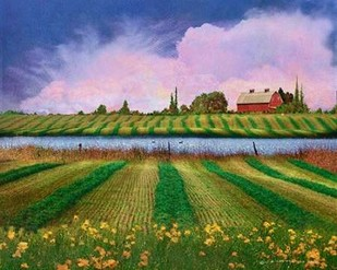 Idyllic Farm II Digital Print by Vest, Chris,Impressionism