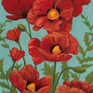 Poppy Promenade I Digital Print by Popp, Grace,Impressionism