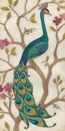 Peacock Fresco I By Artist Vess June Erica Decorative Painting