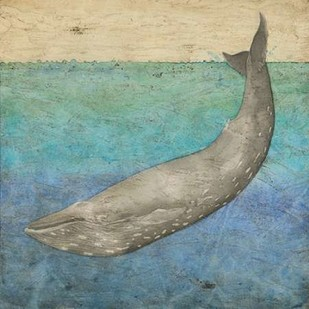 Diving Whale I Digital Print by Meagher, Megan,Impressionism