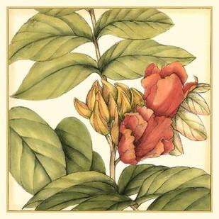 Tropical Blooms and Foliage III Digital Print by Goldberger, Jennifer,Impressionism