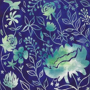 Indigo Batik II Digital Print by Popp, Grace,Decorative