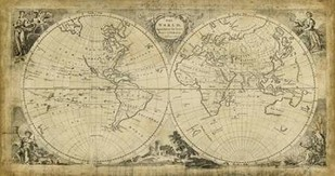World Discoveries Map Digital Print by Jeffreys, T.,Illustration