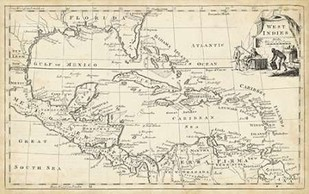 Map of West Indies Digital Print by Jeffreys, T.,Illustration