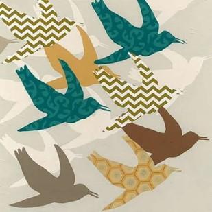 Patterned Flock I Digital Print by Vess, June Erica,Decorative