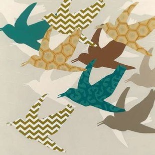 Patterned Flock II Digital Print by Vess, June Erica,Decorative