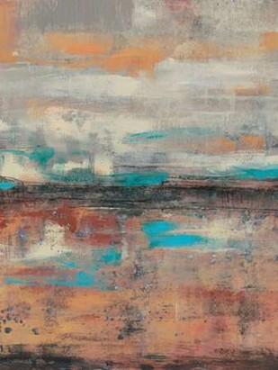 Teal Sunset I Digital Print by Goldberger, Jennifer,Abstract
